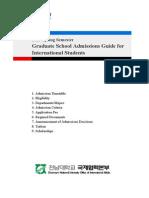 2013 Spring Admission Guideline Chonnam National University
