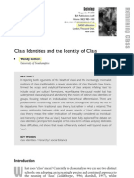 Class identities and the identity of class - Bottero