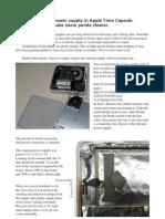 Repair of broken power supply in Apple Time Capsule