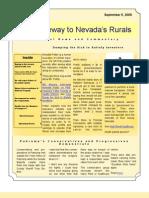 Nye-Gateway to Nevada's Rurals Newsletter Vol. 1 No. 8 September 5 2009