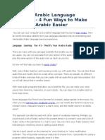 Creative Arabic Language Learning - 4 Fun Ways to Make Learning Arabic Easier