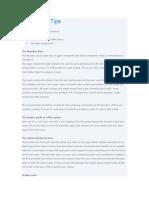 Fabrication Tips