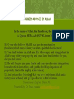 Business Advised by Allah