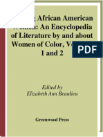 Beaulieu - Writing African American Women ~ an Encyclopedia of Literature by and About Women of Color, Vols 1-2