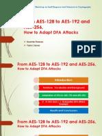 DFA on AES 192 ,256