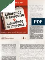 Liberdade de expressão x liberdade de imprensa - Venicio A. de Lima