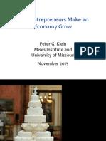 Peter Klein - Mises HS Seminar 2013