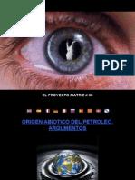EL PROYECTO MATRIZ #98 - ORIGEN ABIÓTICO DEL PETRÓLEO ARGUMENTOS