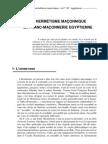UN HERMÉTISME MAÇONNIQUE LA FRANC-MAÇONNERIE EGYPTIENNE