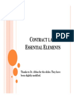 Contract Law - Essential Elements