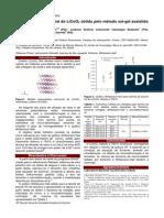 Estudo micro estrutural do LiCoO2 obtido pelo método sol-gel assistido pelo amido