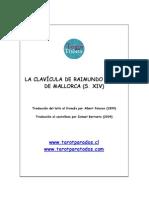 LA CLAVICULA de Raimundo Lulio Trad by Ismael Berroeta