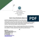 Katie's Koats final tally media advisory