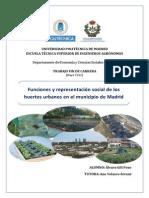 Funciones y representación social de los huertos urbanos en el municipio de Madrid