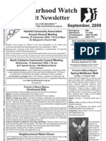 Hackett Neighbourhood Watch Newsletter September 2009
