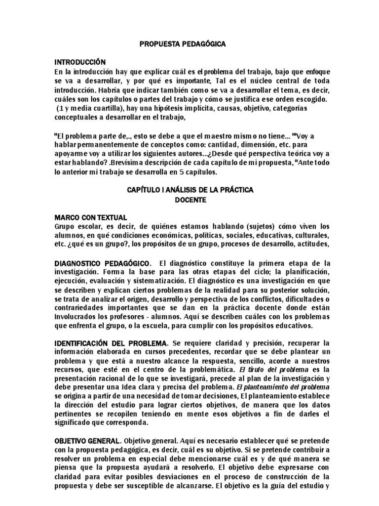 PASOS PARA LA ELABORACIÓN DE PROPUESTA PEDAGÓGICA