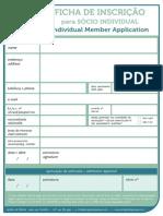 AAPEF-Ficha de inscrição de sócio individual