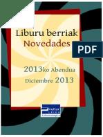 2013ko abenduko liburu berriak -- Novedades diciembre 2013