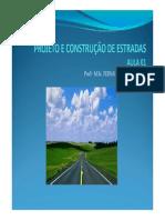Aula 01 Projeto e Construcao de Estradas 1