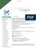 JSP - Custom Tags