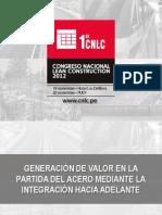 I CNLC - Generacion de Valor x Integracion Hacia Adelante vI