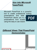 Introduction to Microsoft Power Point