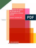 Registro obligatorio de la jornada de trabajadores a tiempo parcial - IFRA ASESORES