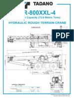 Tadano TR-800XXL-4 Specification