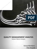 Final Quality Management and Productivity Analysis(1)