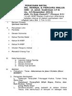 Tata Ibadah Perayaan Natal Remaja Dan Naposo Hkbp Sudirman 2013