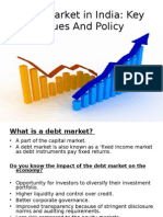 Debt Market in India - Key Issues & Policy Recommendations