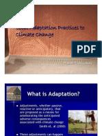 Climate Change & Adaptation Orissa