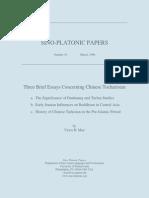 Victor H. Mair - Three Brief Essays Concerning Chinese Tocharistan