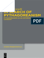in Search of Pythagoreanism Pythagoreanism as an Historiographical Category 2013