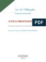 [Vox Philosophiae] Apel la contribuţii, Numărul 2/2010, Etica profesională. Articolele acestui număr sunt publicate în limbile română, franceză, engleză şi germană. Termen limită 1 septembrie 2010.