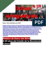 Noticias Uruguayas Lunes 30 de Diciembre Del 2013