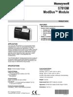 S7810M Modbus Module Product Data