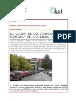 EKAI Center en NAIZ. EL ACCESO DE LAS COOPERATIVAS AL MERCADO DE CAPITALES A DEBATE (Es)