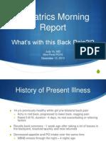 Back Pain...Poststreptococcal glomerulonephritis
