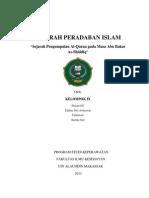 Sejarah Pengumpulan Al-Quran Pada Masa Abu Bakar Ash-Shiddiq