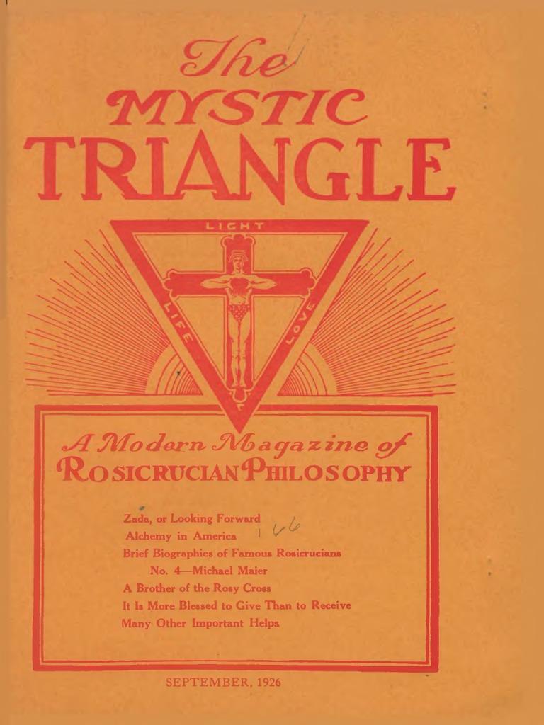 AMORC - The Mystic Triangle, September 1926 | Rosicrucianism