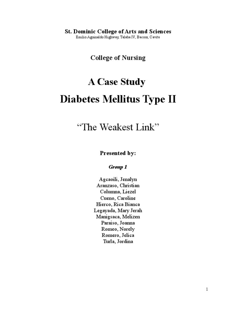 case study 23 type 2 diabetes mellitus
