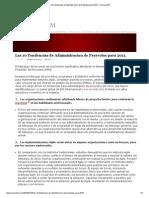 Las 10 Tendencias de Administracion de Proyectos Para 2013