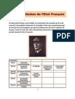 Constitution de l'Etat Français du Maréchal Pétain