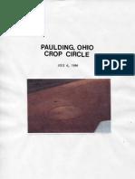 Paulding Ohio Crop Circle, July 4th, 1996
