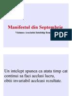 Manifestul Din Septembrie - AIR -  Asociatia Intelship Romania