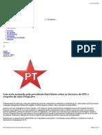 Partido Dos Trabalhadores - NOTA DO PT
