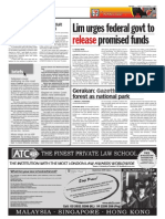 TheSun 2009-09-04 Page06 Lim Urges Federal Govt to Release Promised Funds