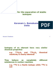 Separation of Stable Isotopes