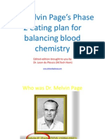Dr. Melvin Page's Eating Plan